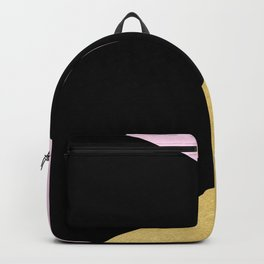 Color Block Glam Triangles Backpack