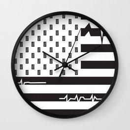 inhaler idiot- green D Wall Clock