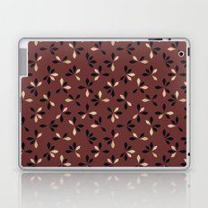 loves me loves me not pattern - oxblood Laptop & iPad Skin