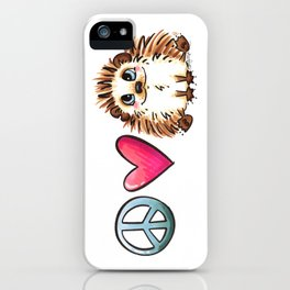 Peace, Love and Hedgehogs iPhone Case