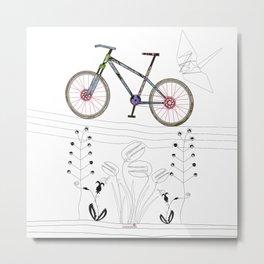 Photo Bicycle Metal Print