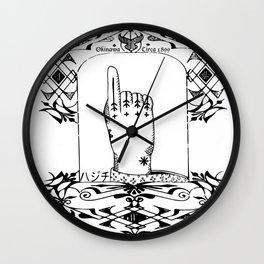 Hajichi - Okinawan Tattoo Circa 1899 - Traditional Women's Tribal Tattoo from Okinawa, Japan Wall Clock