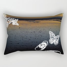 Beach noir Rectangular Pillow