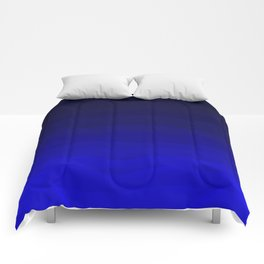 Deep Rich Sapphire Ombre Comforters
