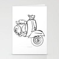 vespa Stationery Cards featuring Vespa by tuditees