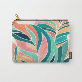 Rise Up / Tropical Leaf Illustration Carry-All Pouch