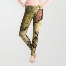 Map of Central America and Surroundings (1710) Leggings