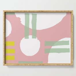 Mid-Century Modern in Pink, Mint and Mustard Pattern Serving Tray