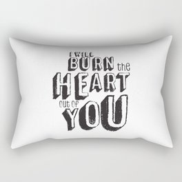 Moriarty Quote, I'll burn the heart out ouf you, Sherlock Decor Rectangular Pillow