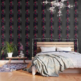 Charcoal and Lace Wallpaper