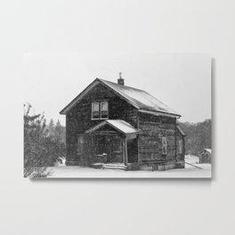 Weathered Black and White Metal Print