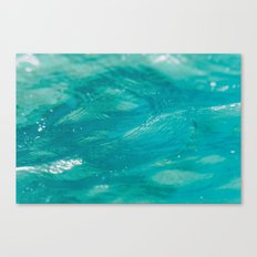 Aqua Waves Canvas Print