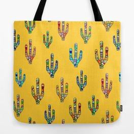 Mosaic Cacti on Yellow Tote Bag