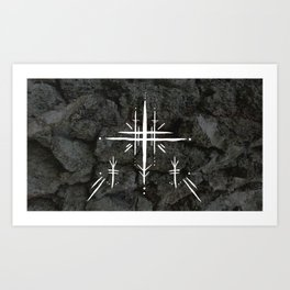 Rune Cross Art Print