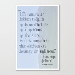 Jean Arp Quote Canvas Print