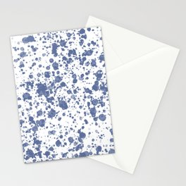 Blue paint drops. Blots and dirt spots. Stationery Cards