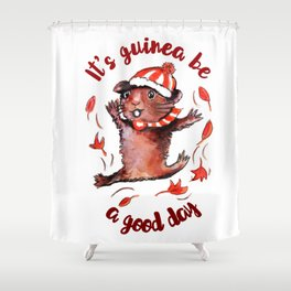 Happy Guinea Pig Shower Curtain