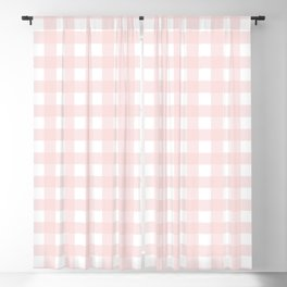Pastel pink gingham pattern Blackout Curtain