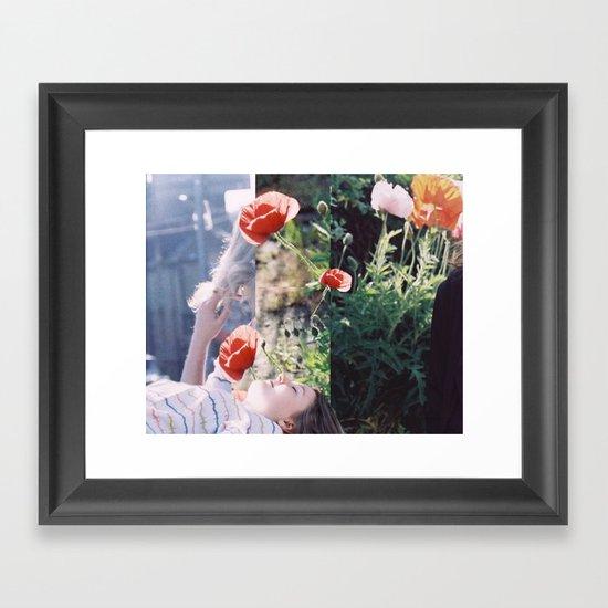 Friends + Flowers Framed Art Print