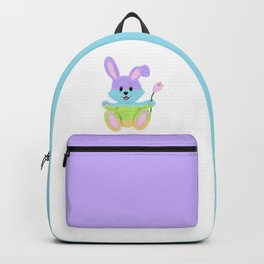 Furry, Pastel Easter Bunny Backpack