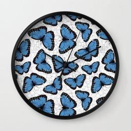 Blue morpho butterflies Wall Clock