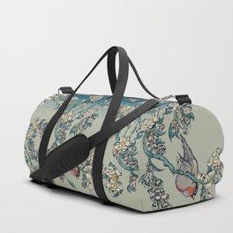 Bullfinch and Pug Cherry Duffle Bag