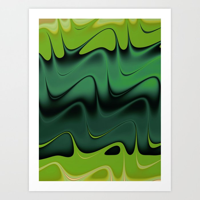 Waving Art Print