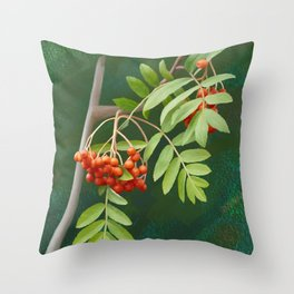 Rowan tree Throw Pillow