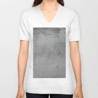 concrete V-neck T-shirts featuring Concrete by Coconuts & Shrimps