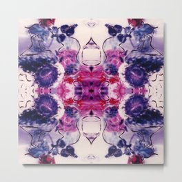 Wine & Flowers Photographic Pattern #1 Metal Print