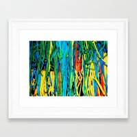 anxiety Framed Art Prints featuring Anxiety by Yolanda's Prints