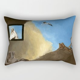 Horse and Child Children's book illustration Rectangular Pillow