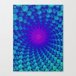 Teal Space Canvas Print