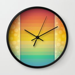 Colorful Rainbow Background Wall Clock