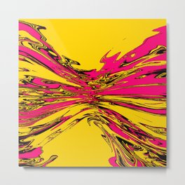 yellow violet squeeze Metal Print