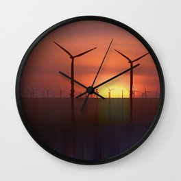 Wind Farms (Digital Art) Wall Clock