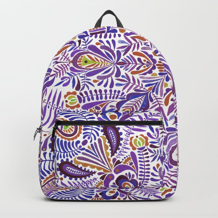 Gloomy purple mandala pattern Backpack