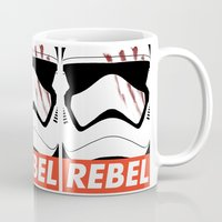 rebel Mugs featuring REBEL by Bertoni Lee