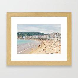 San Sebastian Beach Framed Art Print