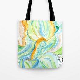 Golden Lotus Flying Fish Tote Bag