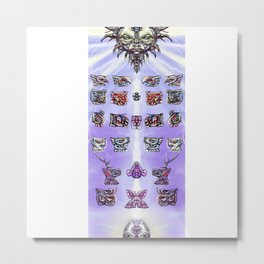 Ancestral Codex Metal Print