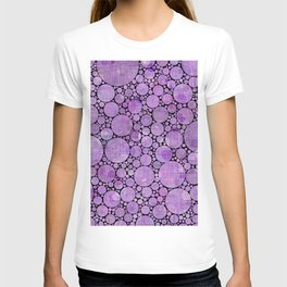 Pantone Purple Circular Pattern Decor T-shirt