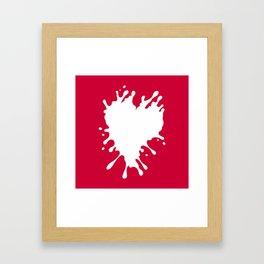 Splatter Heart Framed Art Print