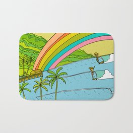 Surf Paradise Rainbow of Happiness Bath Mat