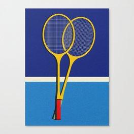 Wooden Badminton Rackets Canvas Print