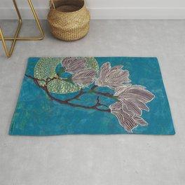 Dark Blue Magnolia Rug