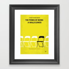 No575 My Perks of Being a Wallflower minimal movie poster Framed Art Print