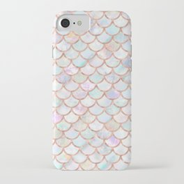 Pastel Memaid Scales Pattern iPhone Case