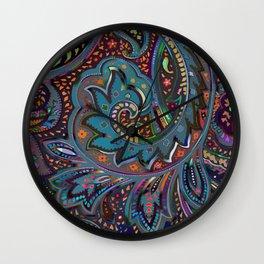 Magic Paisley Pattern Wall Clock