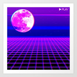 Once In A Neon Moon Art Print